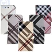 Aguchi 亞古奇 Apple iPhone 11 (6.1吋) 英倫格紋氣質手機皮套 側掀磁扣支架式皮套 矽膠軟殼 5色可選