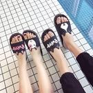 拖鞋女夏室內居家卡通可愛情侶家居浴室洗澡防滑厚底涼拖鞋男女