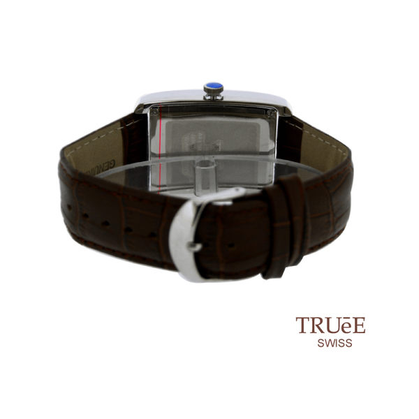 瑞士 TRUE 瑞時寶嘉  TS150278 Rectangular 弧形線條經典 腕錶 /35mm x 47mm (白)