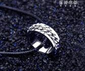 個性霸氣戒指男士鈦鋼食指環韓版潮男單身戒子飾品配飾尾戒可轉動