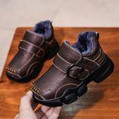 男童棉鞋2018新款冬季兒童大棉鞋加絨加厚皮鞋保暖冬鞋童鞋男鞋子 熊貓本