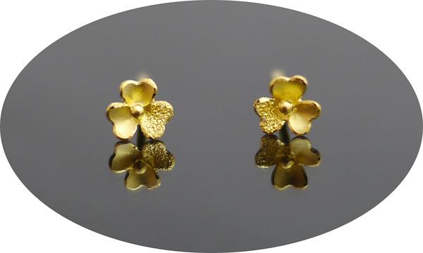 gold 黃金 耳環 金飾 保證卡 重量0.18錢 [ ge 073 ]