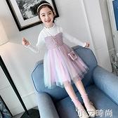 女童毛衣裙新款洋氣女孩公主洋裝秋裝兒童小香風韓版長袖裙子女 小艾新品