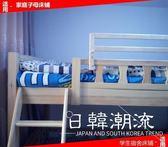家庭子母床寶寶上鋪增高安全護欄防摔掉床邊圍欄學生宿舍木床欄桿