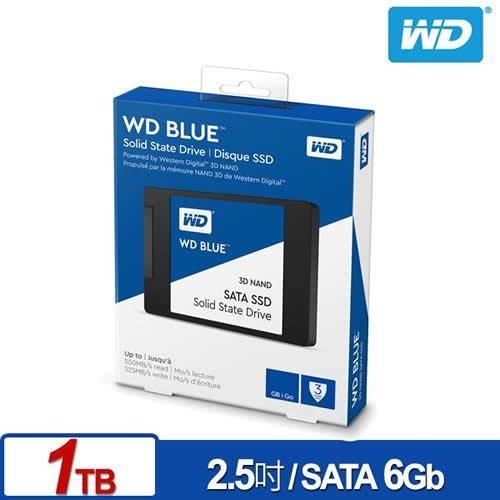 WD 威騰 藍標SSD 1TB 2.5吋 3D NAND固態硬碟