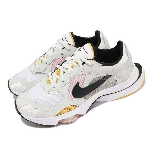 【海外限定】Nike 休閒鞋 Wmns Air Zoom Division 白灰 黑 黃 氣墊 女鞋【ACS】 CK2950-103