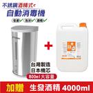 HK-MSD31 紅外線感應 不銹鋼乾洗手機 加贈生發酒精4000ml/瓶 專品藥局【2015827】