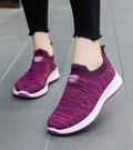 媽媽鞋 老北京布鞋女軟底媽媽鞋一腳蹬懶人鞋中老年運動休閒鞋老年健步鞋