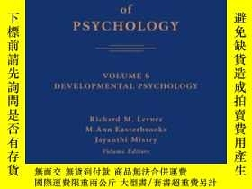 二手書博民逛書店Handbook罕見Of Psychology, Volume 6, Developmental Psycholo