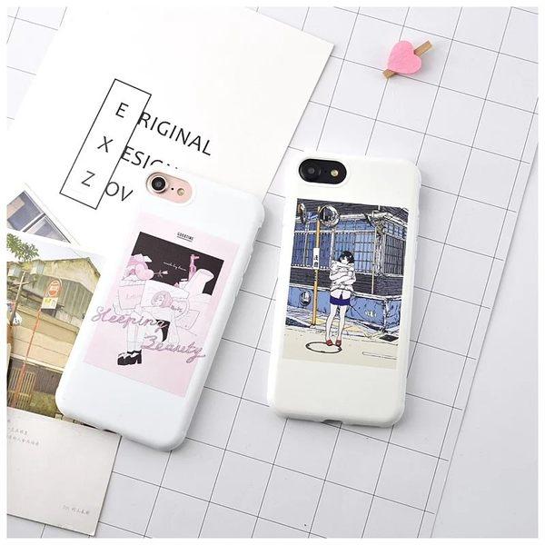 【SZ15】 iPhone 7/8 漫畫風 美少女 iPhone7/8 plus 矽膠軟殼 iPhone 6S plus 手機殼 iPhone 6/6S 保護套