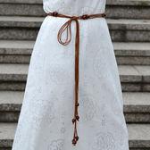 618好康鉅惠 女細腰帶串珠編織流蘇連身裙子腰?