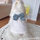 KZ 小白裙子 初春夏純棉加絨寵物狗狗貓咪衣服泰迪比熊幼犬公主裝 樂事館新品