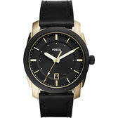 FOSSIL 爵士都會時尚腕錶/手錶-黑x金框/42mm FS5263