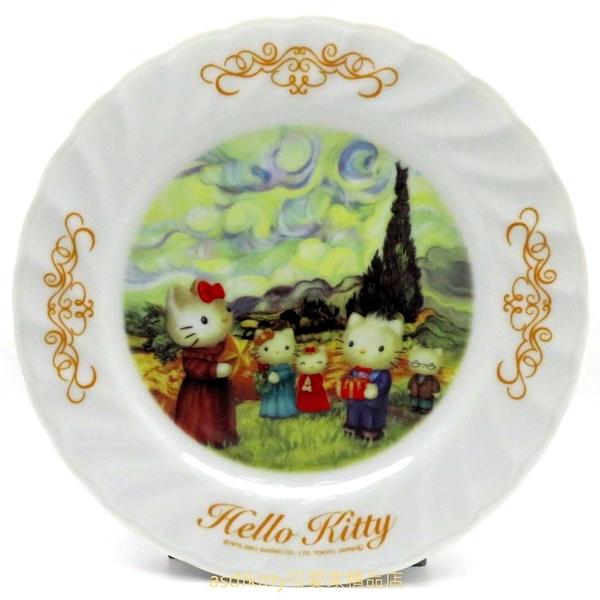 asdfkitty*KITTY收藏級古典陶瓷繪盤-聖誕節-2001年絕版商品-外盒泛黃-日本正版