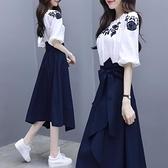 兩件套連身裙 女神范連衣裙春夏裝2021新款氣質韓版套裝女一字肩chic裙子兩件套 薇薇
