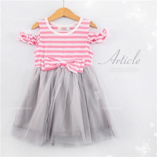甜姐兒~挖肩蕾絲層紗洋裝連身裙(250528)★水娃娃時尚童裝★