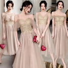 伴娘服 仙氣質 2020新款 夏季 姐妹團 禮服 連身裙 中長款閨蜜顯瘦畢業女  降價兩天