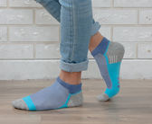 (男襪) 專業抗菌襪 抗菌除臭襪 吸濕排汗除臭襪 抗菌氣墊短襪 襪子 - 三線藍【M20003-06】Nacaco
