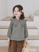 秒殺價女童襯衫女童格子襯衫春款小女孩韓版洋氣小童娃娃衫兒童長袖襯衣 童趣屋