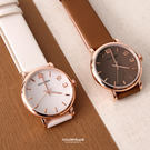手錶 玫瑰金框多色腕錶 柒彩年代【NE1...