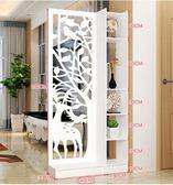 屏風隔斷客廳玄關櫃現代時尚行動門廳裝飾櫃鏤空雕花櫥窗背景ATF