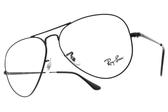 RayBan光學眼鏡RB6489 2503 (霧黑) 復古金屬飛行款 平光鏡框 # 金橘眼鏡