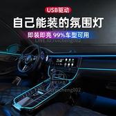 汽車氛圍燈車內飾led導光條usb氣氛冷光線車載用品【輕派工作室】