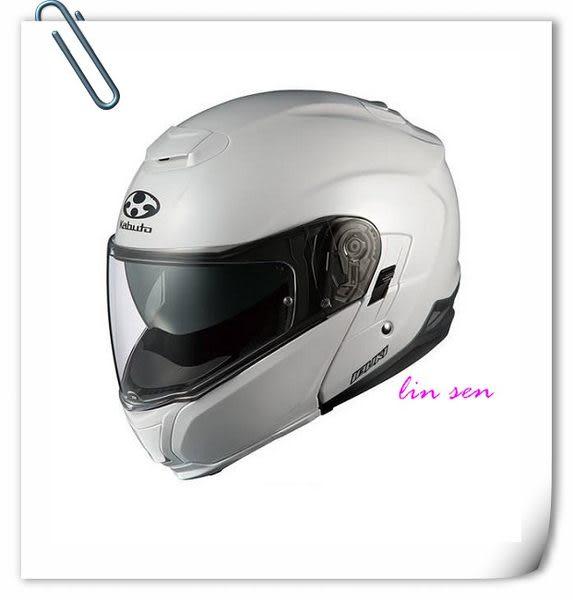 OGK/KABUTO安全帽,IBUKI,素/珍珠白