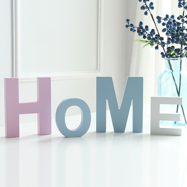 diy木質英文字母家居創意擺件婚慶裝飾擺設壁飾拍攝道具大號藍色─預購CH2005