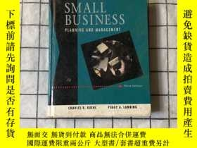 二手書博民逛書店SMALL罕見BUSINESS PLANNING AND MANGEMENT 小型企業的規劃和管理Y26822