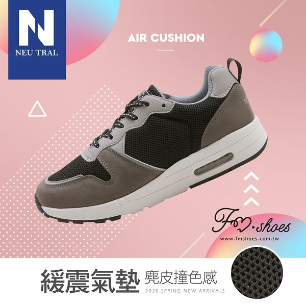 休閒鞋.麂皮撞色增高氣墊鞋(黑)-大尺碼-FM時尚美鞋-NeuTral.Fashion