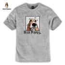 Hush Puppies T恤 男裝狗頭圖像印花短袖T恤