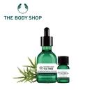 THE BODY SHOP 天然茶樹精油-10ML+茶樹淨膚淨化調理菁萃-50ML 百貨專櫃正貨