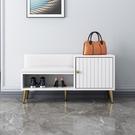 換鞋凳 鞋柜家用門口入戶可坐式軟包穿鞋凳輕奢北歐進門多功能長凳2021新款