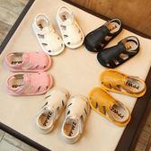 學步鞋 夏季新款寶寶涼鞋0-1-2歲嬰幼兒軟底學步鞋男女童真皮包頭兒童鞋3  寶貝計畫