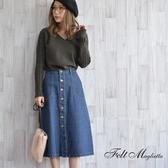 東京著衣-Felt maglietta-純棉A字牛仔裙-M.L(Z200024)