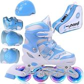 旱冰鞋溜冰鞋兒童全套裝3-5-6-8-10歲輪滑鞋旱冰滑冰鞋男女初學者