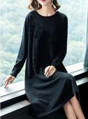 大尺碼洋裝針織毛衣裙打底內搭裙M-3XL/羊毛針織連衣裙MC001-B.8918.1號公館