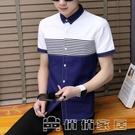 襯衫 新款短袖襯衫男上衣潮流時尚休閒百搭修身男士襯衣320# 17俏俏
