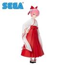 【日本正版】拉姆 巫女 SPM 公仔 模型 23cm 拉姆女巫 RAM 從零開始的異世界生活 SEGA - 945748