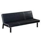 【采桔家居】卡夫 時尚黑皮革多段式機能沙發/沙發床(多段式變化設計)