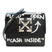 OFF-WHITE 黑色牛皮肩背斜背包 Jitney Mini Cash Inside Bag 【BRAND OFF】