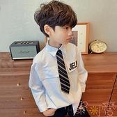 百搭韓版襯衫長袖休閒男童寶寶【聚可愛】