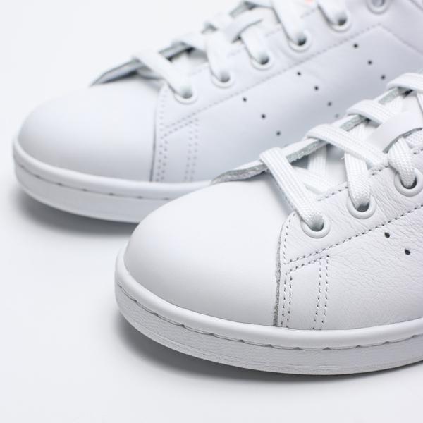 ADIDAS STAN SMITH W 白 後跟粉 皮革 英文刺繡 休閒鞋 女 (布魯克林) EE5865