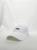 FILA 白色休閒經典款六片帽 HTV1001WT