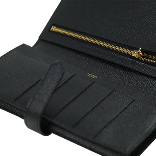 Hermes都會時尚黑色長皮夾