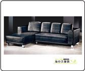 {{ 海中天休閒傢俱廣場 }} F-08 摩登時尚 沙發系列 310-803  803L型黑色沙發整組