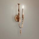 法式木藝壁燈 單頭巴洛克風格 過道走廊牆壁燈 床頭燈 客廳背景壁燈0463-1