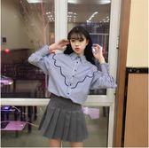 新款韓版百搭寬鬆長袖襯衫學生休閒襯衣
