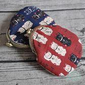 和風日系招財貓零錢包女卡包學生小布包口金包迷你布藝創意禮物